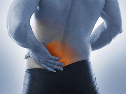 Травмы нижнего отдела спины при палении