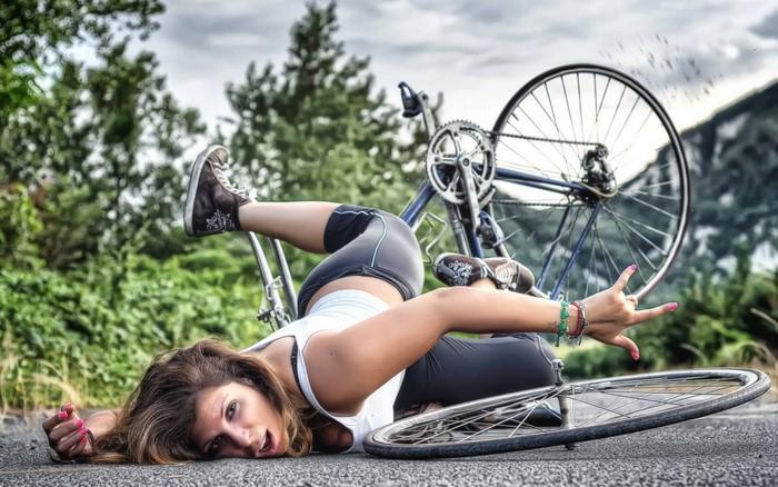 Неудачная прогулка на велосипеде