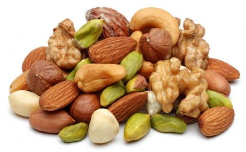Орехи разных видов для регенерации ткани костей, хрящей и мягких тканей