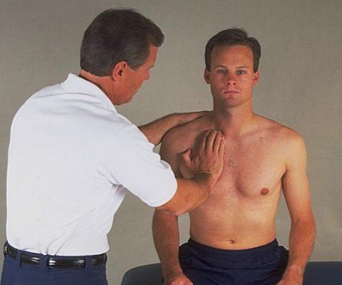 Сравнительный осмотр для определения длины травмированной руки