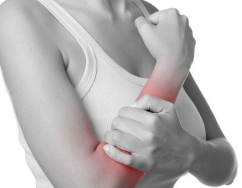 Интенсивность болезненных ощущений при сломанной руке у человека
