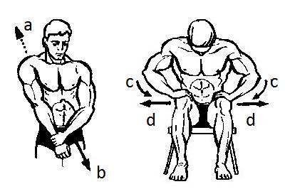 Изометрия для плеча (вверх и вниз с боку)