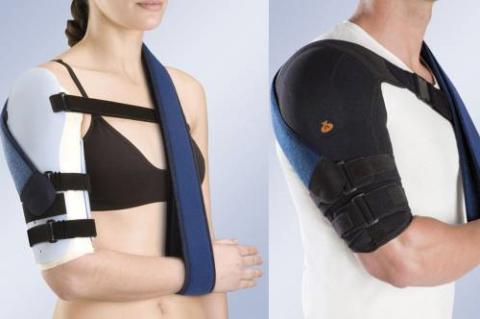 Термоусадочная ортезная плечевая скобка, применяемая при диафизарных переломах