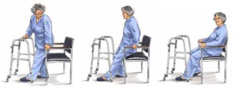 Пример усаживания в кресло