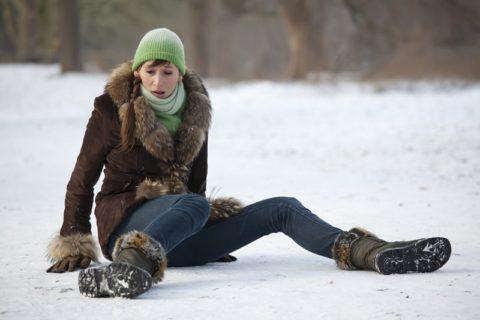Механизм возникновния ушибов копчиковой кости в зимнее время