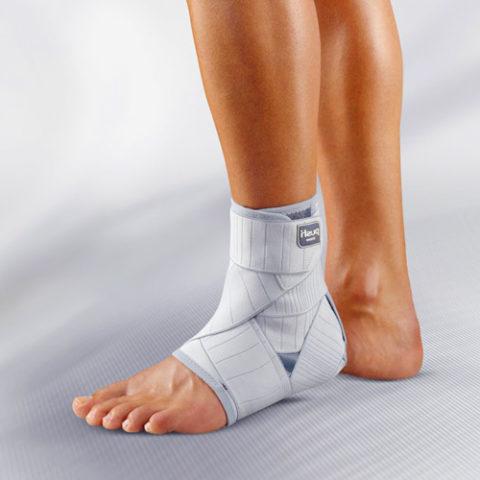 Ношение фиксирующих средств для скорейшего восстановления после травмы костей стопы