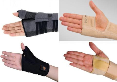 Отличия моделей в зависимости от необходимости фиксации большого пальца и пястья