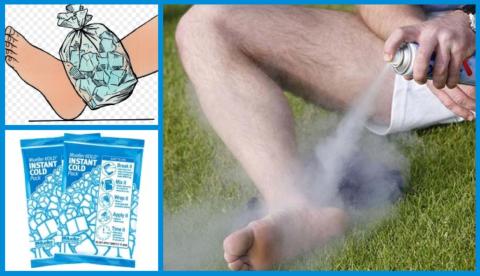 Сломанный сустав вначале заморозьте или приложите холод, а потом фиксируйте его