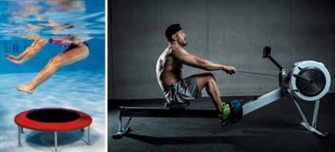 Помимо тренировок в бассейне, занимайтесь на вело- или гребном тренажёры
