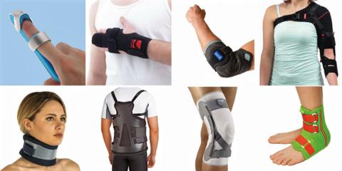 Некоторые разновидности бандажей для разных суставов