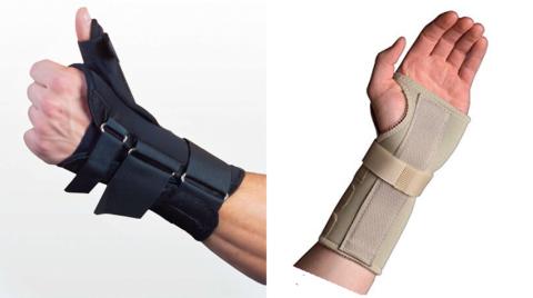 Разновидности «коротких ортезных перчаток» жесткой фиксации