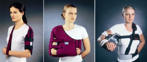 Разновидности ортезов и туторов при плечевых травмах