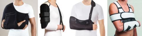 Разновидности бандажей, обездвиживающих сломанное плечевое сочленение