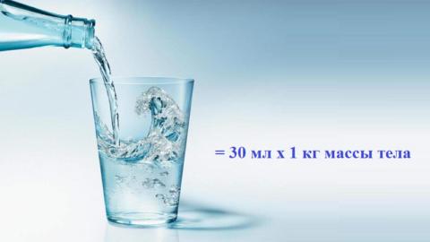 Формула расчета суточной нормы воды