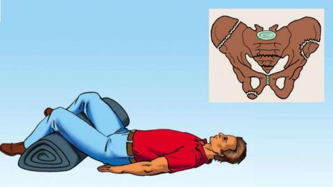 Положение пострадавшего с подозрением на повреждение таза до приезда Скорой помощи