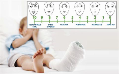 Шкала для оценки силы болевого ощущения
