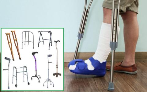 Виды вспомогательных опор при травмах нижних конечностей
