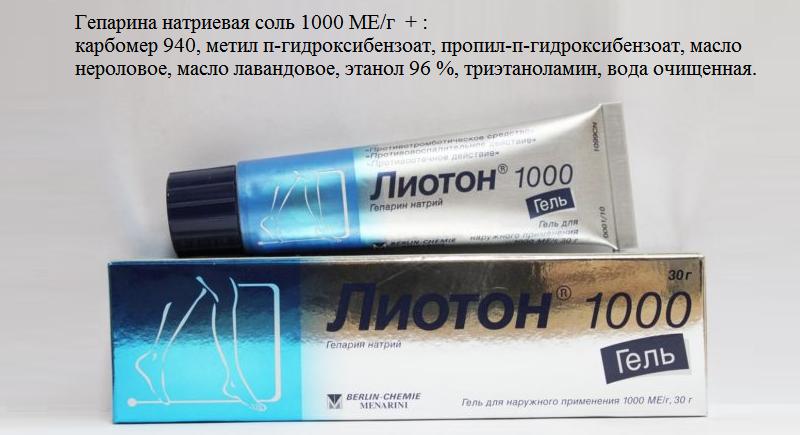 Состав LIOTON® 1000 GEL
