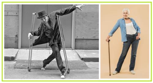 При любом переломе на ноге на первых порах будут нужны костыли, а затем трость